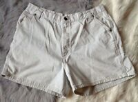 Lee Size 10 M High Rise Waist mom jean Shorts Denim tan Carpenter Loop pockets