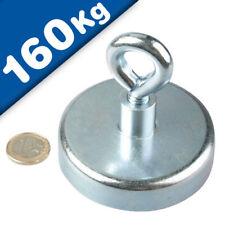 Ösenmagnet / Magnet mit Öse Ø 75mm – Neodym, Zink - Haftkraft 160 kg