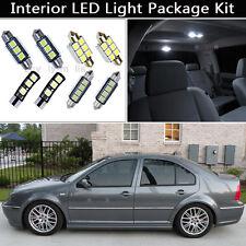 9PCS White Error Free LED Interior Lights Package kit Fit 1999-2004 VW Jetta J1