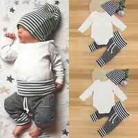 3 Stk Neonato Infante Bambino Giovane Ragazza Abbigliamento Maglietta Outfit