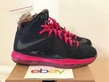 2013 Nike Lebron X EXT qs DENIM Size 9 midnight navy fireberry pink 597806 400