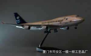 1/150 Resin Saudi Arabia Airplane Model B747 47cm LED Light Passanger Plane
