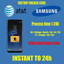 UNLOCK CODE AT&T Samsung Galaxy S7 S7Edge S8 S8+ S6 S5 S3 S4 S2 Note 5 J3 J5