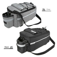 Insulated Trunk Cooler Bag Cycling Bicycle Rear Rack Storage Luggage Bag L9M8