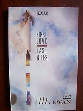 Ian McEwan First Love, Last Rites 1976 Short Stories