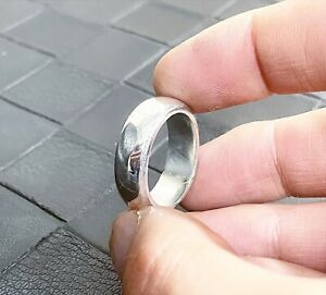HEAVY SOLID Silver Ring Band 999 Pure Fine silver For Men And Women *ALL SIZES*