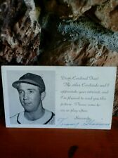 1951 Tommy Glaviano signed autograph 5 1/2 x 3 1/2 Postcard Baseball Player