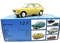 Model Car Fiat 127 LAUDORACING Scale 1/18 vehicles Yellow collection New