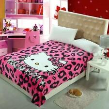 X Large Soft Mink Blanket Flannel Fabric 1.5x2 Meter Hello Kitty B Pink