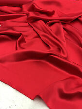"satin charmeuse shiny red 100% silk 44""/45"" inch (fashion fabric) by the yard"
