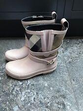 Genuine Girls Burberry Check Wellies Rain Boots. Size 30