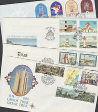 Republic South Africa 1988 FDC Full Sets RSA Huguenots Lighthouses Trek Dias