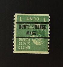North Orange, Massachusetts INVERT Precancel coil - 1 cent Prexie (U.S. #839) MA