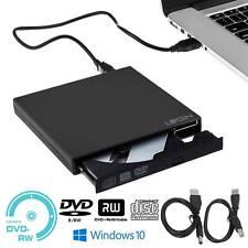 USB 2.0 lettore DVD esterno unità Slim CD DVD RW BRUCIATORE riscrivere per PC portatile
