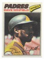 1977 Topps Cloth Sticker #52 Dave Winfield, San Diego Padres