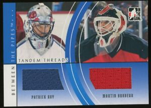 2008 In The Game Patrick Roy Martin Brodeur Dual patch