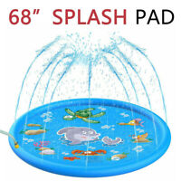 "68"" Splash Play Mat, Inflatable Outdoor Water Toy, Sprinkler Pad for Kids Child"