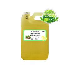 64 oz Premium Refined Sesame Seed Oil 100% Pure Organic Cold Pressed Best Fresh
