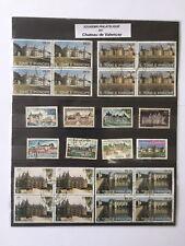Souvenir philatélique thème Chateaux Loire 24 timbres oblitérés France Sao Tomé