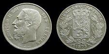 Belgium - 5 Francs 1873 Leopold II ~ silver