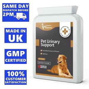 BLADDER SUPPORT FOR DOGS & CATS - 120 Tablets UTI Cystitis Relief with D-Mannose