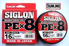 SUNLINE SIGLON Pex8 Multicolour Braid #1.0 200m 16lb