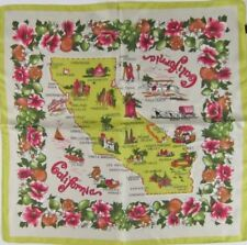 J Crew Destination Scarf CALIFORNIA Souvenir Print Vintage Look NWT