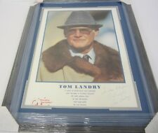 Tom Landry Dallas Cowboys signed autographed framed matted poster CAS COA 1/1