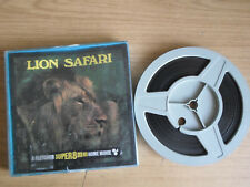 Super 8mm sound 1x400 LION SAFARI. Wildlife documentary.