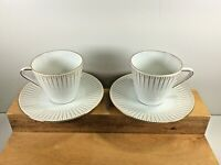 "Vtg Pair of Seltmann Weiden Bavaria Porcelain Cups & Saucers ""Monika"" Germany"
