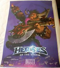 BlizzCon 2015 Official Heroes of the Storm Signed Poster