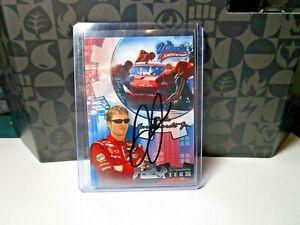 DALE EARNHARDT JR  -  Autographed SIGNED 2004 PRESS PASS  RACE CARD.