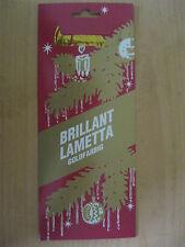1 Pck Echtes  Stanniol GOLD Lametta Stanniollametta Bleilametta 10g pro Pack