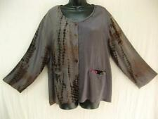 JK19~TIENDA HO~purple-gray~JACKET TOP~Nothing Matches~POCKETS~rayons~abstract~OS