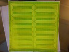 "16 x GREEN NFPA 1"" x 4"" Reflective safety helmet Stickers (1 sheet) ORAFOL 17725"