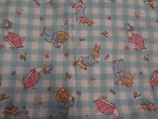 Gorgeous Beatrix Potter PETER RABBIT Rubber Backed Fabric (65cm x 55cm)
