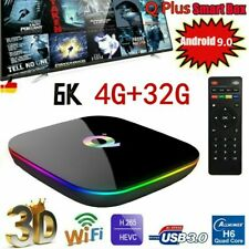 Q Plus Android 9.0 TV Box 4GB 32GB Quad Core 6K 2.4G WiFi USB Media Stream N5D0
