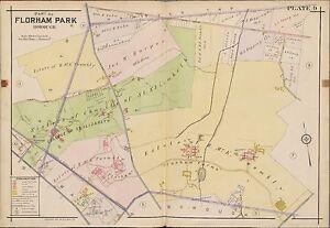 1910 FLORHAM PARK MORRIS TOWWNSHIP NEW JERSEY COLLEGE OF ST. ELIZABETH ATLAS MAP