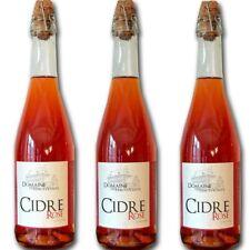3 bouteilles Cidre Rose