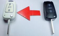Key shell MODIFITE SET TO WHITE  -  KIA / HYUNDAI 3 button