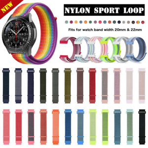 20mm 22mm Quick Release Woven Nylon Sport Loop Watch Band Strap Replacement Belt