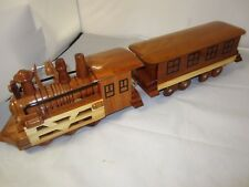 """Handcrafted Wood Model Old Classic Train 23.5"""" by 4.5"""" Brand New"""