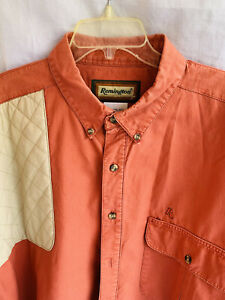Remington Mens Brown Rust S/S Button Down Vented Padded Shooting Shirt XXL