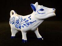 Vintage Porcelain Cow Coffee Creamer, Delft Blue, Pretty Dutch Artwork  #COW 6