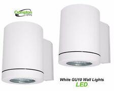 2 x LED Crompton White Outdoor Exterior Wall Down Light - 240V 5W GU10 IP65