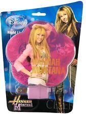 Disney Hannah Montana Night Light - Miley Cyrus Pink Purple Flowers Wall Plug In