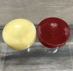 2 Backgammon Replacement Checker Chips Red Cream Marbled Plastic Game Part Piece