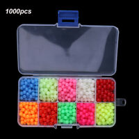 1000pcs/Box Plastic Round Glow Fishing Beads Tackle Lures Fishing Accessories-