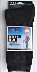 New Black THERMAL SOCKS UNISEX cotton blend 10 - 13 hunting, outdoor work sports
