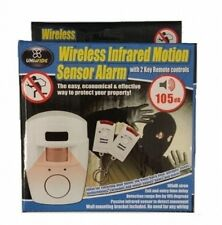 New Pir Motion Sensor Wireless Alarm + 2 Remote Control Shed Home Garage Caravan